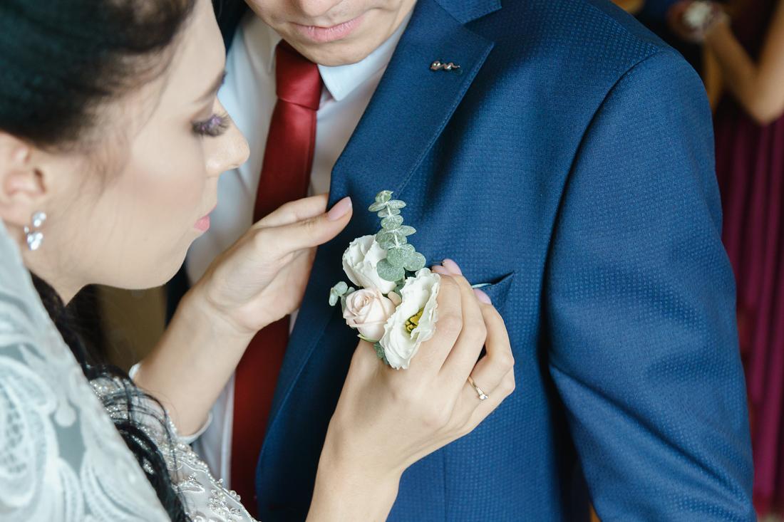 Свадебный Фотограф Запорожье Маша Рихтер Бутоньерка невеста