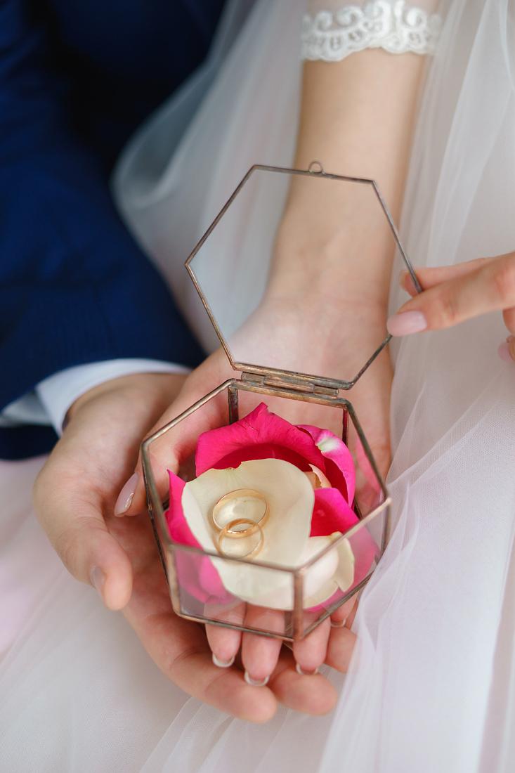 Свадебный Фотограф Запорожье Маша Рихтер кольца в руках крупный план