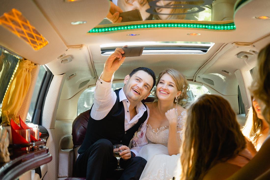 Фотограф Запорожье Маша Рихтер лимузин селфи жених невеста
