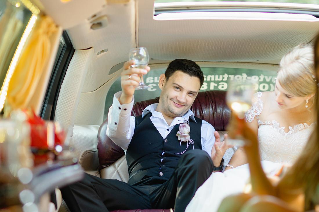 Фотограф Запорожье Маша Рихтер лимузин свадьба тост