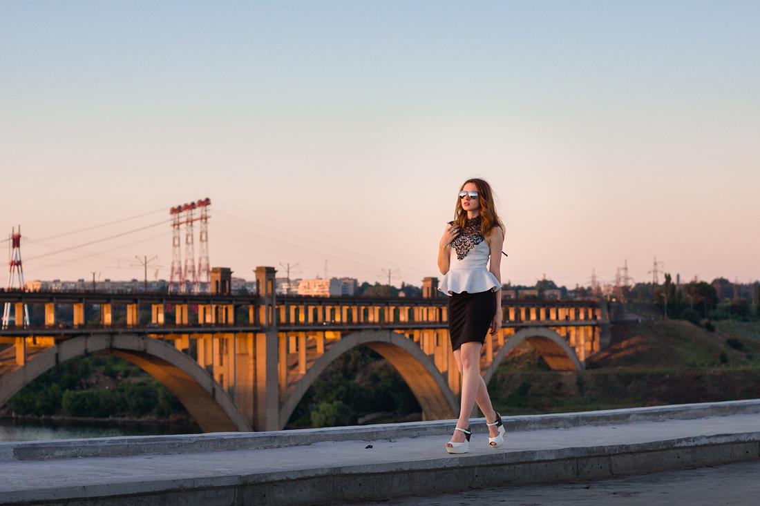 Фотосъёмки на мостах Запорожья