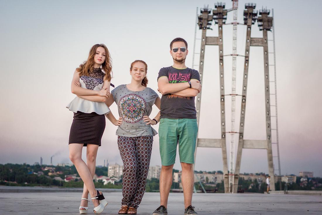 Фотосъёмки на мостах Запорожья Круто