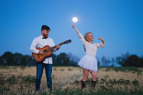 Love Story Запорожье Фотограф Маша Рихтер Луна Поле Гитара Счастье