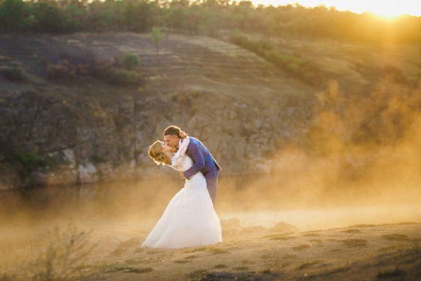 Свадьба Запорожье Фотограф Маша Рихтер Река Пара Дымка