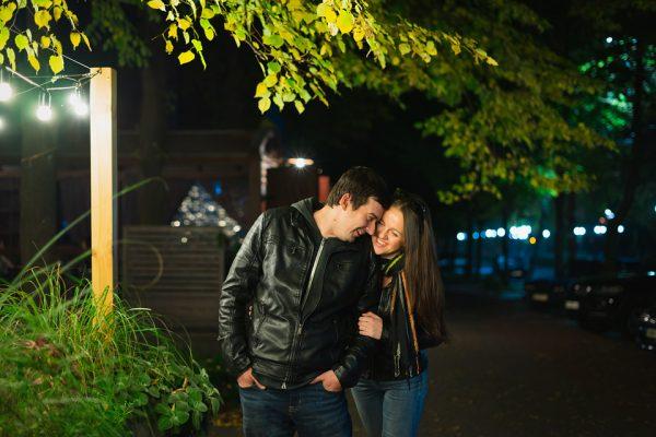 Love Story Запорожье Фотограф Маша Рихтер Ночь Фонарики Огни Города